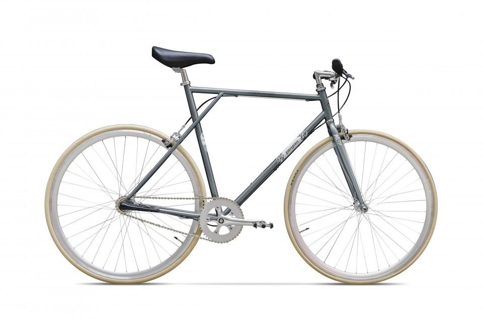 Bicicleta De Oras Pegas Clasic B Fixie - 1 Viteza  Gri Spatial