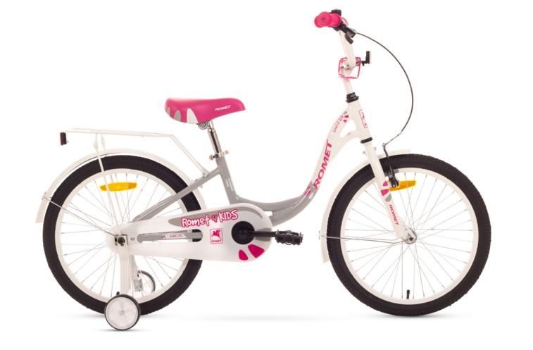 Bicicleta Pentru Copii Romet Diana 20 Alb-gri 2016