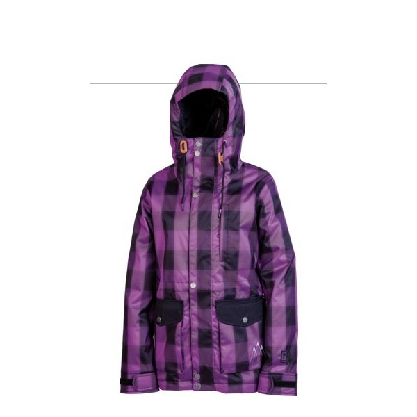 Jacheta Snowboard Nitro Unknown Purple Plaid-black