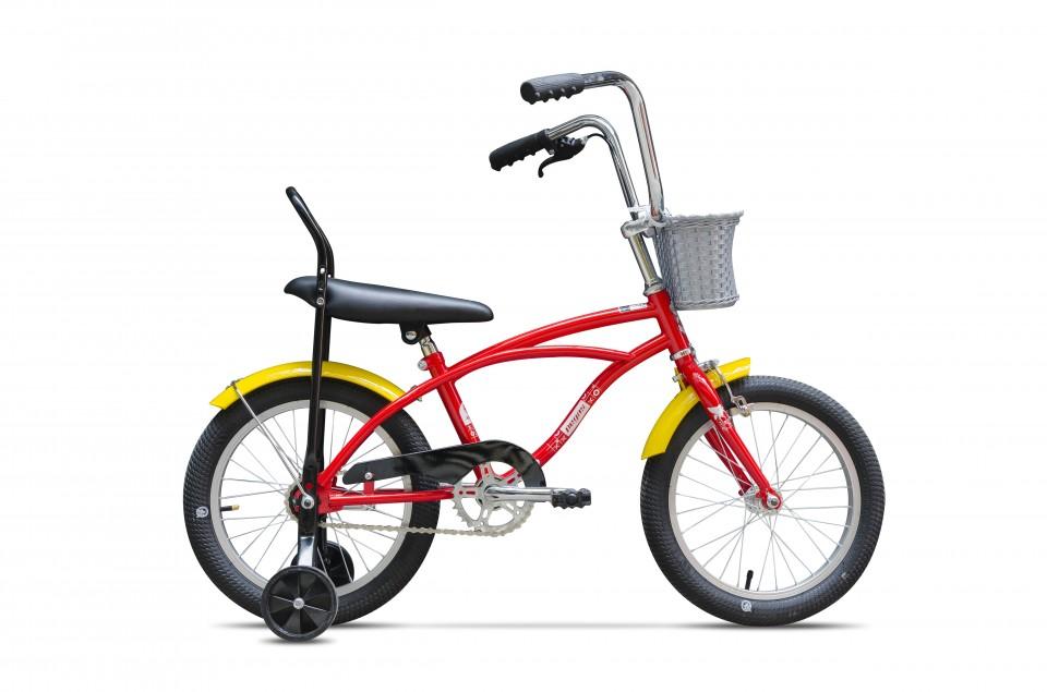 Bicicleta Pentru Copii Mezin B (16) - 1 Viteza  Rosu Bomboana