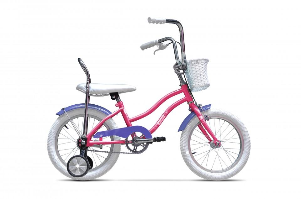 Bicicleta Pentru Copii Mezin F (16) - 1 Viteza  Roz Guma