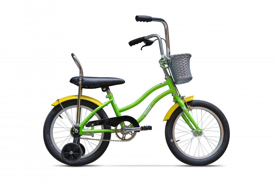 Bicicleta Pentru Copii Mezin F (16) - 1 Viteza  Verde Oac Oac