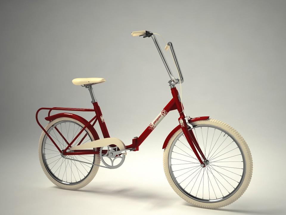 Bicicleta Pliabila Pegas Practic - 3 Viteze  Visiniu Cochet