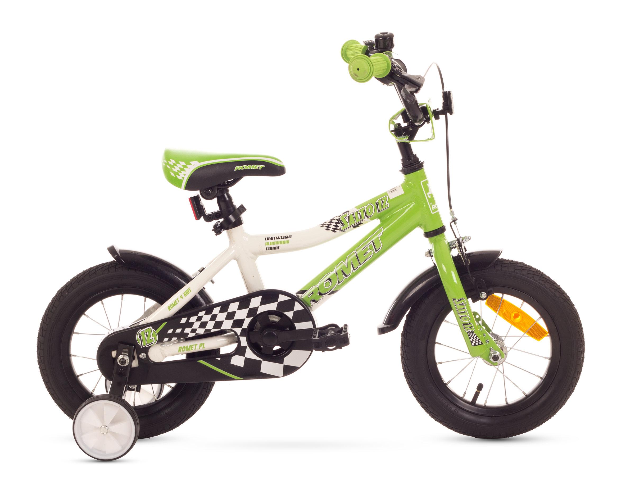 Bicicleta Pentru Copii Romet Salto 12 Alb-verde 2016