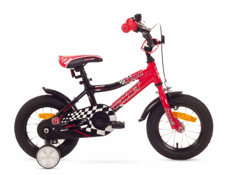 Bicicleta Pentru Copii Romet Salto 12 Negru-rosu 2016