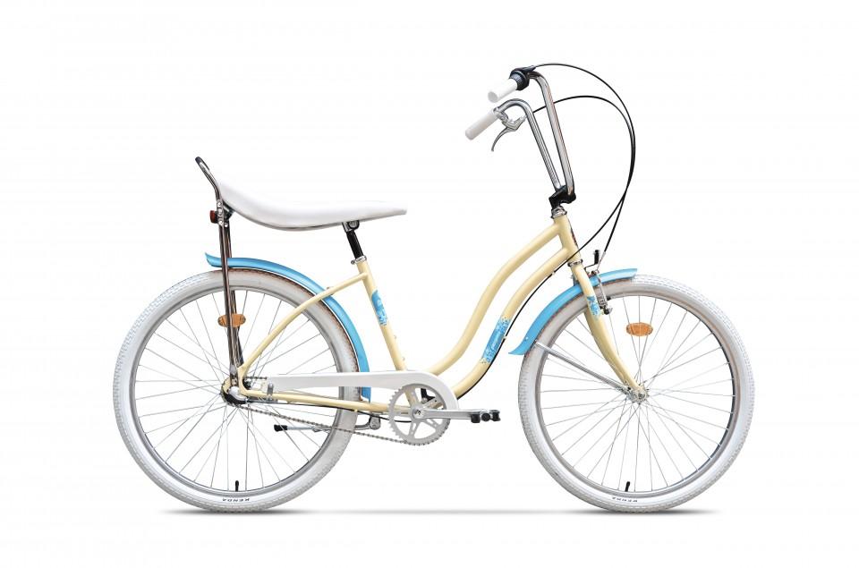 Bicicleta De Oras Pegas Strada 2 - 3 Viteze  Crem Inghetata