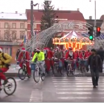 Clujul pedaleaza: 150 de Mos Craciuni pe bicicleta