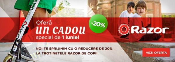 Trotinete Razor pentru copii - oferta 1 iunie 2015