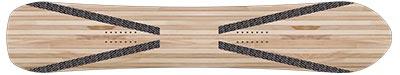 Structura placi snowboard intarituri carbon