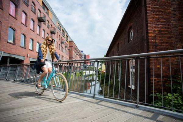Romet - plimbare in oras cu bicicleta