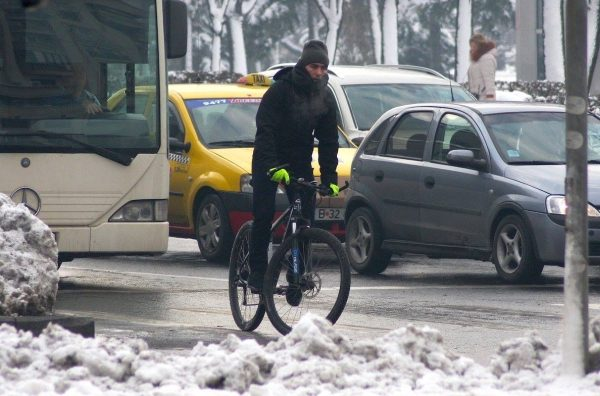Echipare pedalat iarna - Bucuresti