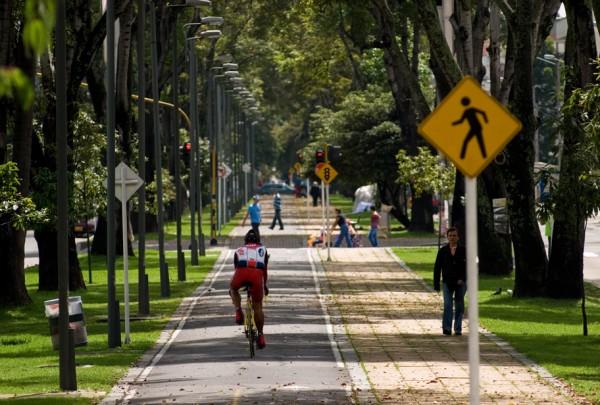 Rata pentru biciclete in Bogota