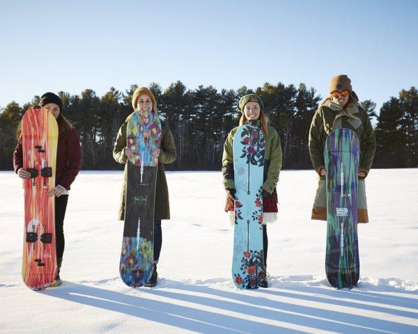 placa snowboard fete
