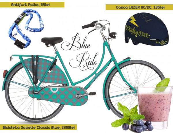bicicleta albastra bleu