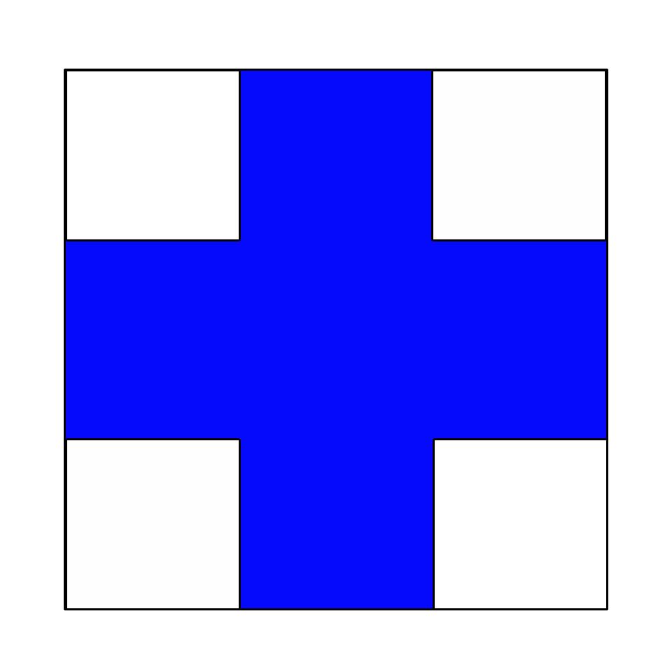 Marcaj turistic montan cruce albastra