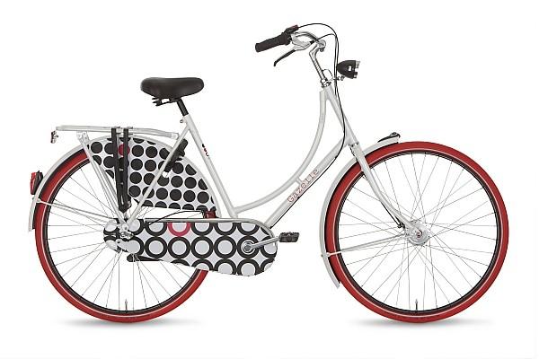 bicicleta gazelle classic rosu negru